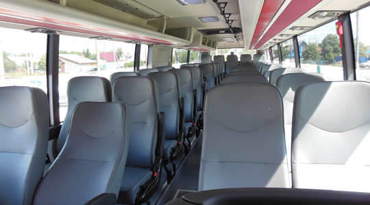 Салон автобуса Univers